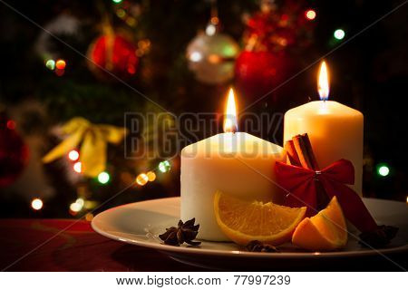 Christmas Decoration On Dining Table
