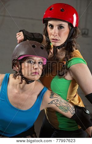 Beautiful And Tough Roller Derby Skaters