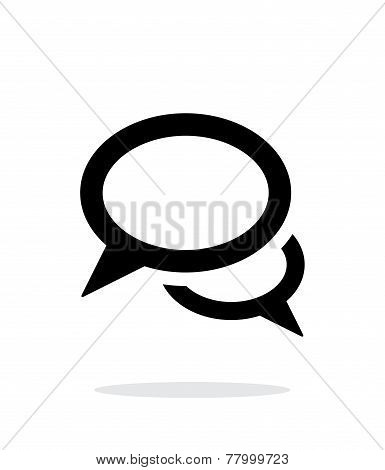 Dialogue icon on white background.