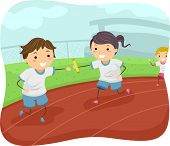image of relay  - Illustration of Kids Participating in a Relay Race - JPG