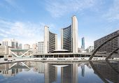 pic of city hall  - City Hall of Toronto at Nathan Phillips square - JPG