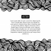 picture of motif  - Abstract vector black and white design with waves - JPG