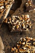 pic of toffee  - Homemade Chocolate English Toffee Topped with Nuts - JPG