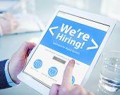image of recruitment  - Business Worker Recruitment Hiring Office Working Concept - JPG