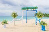 stock photo of wedding arch  - beautiful wedding arch - JPG