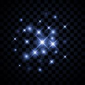 foto of xmas star  - Set of Vector glowing light effect stars bursts with sparkles on transparent background - JPG