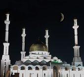image of moonlit  - Mosque  - JPG