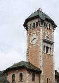 picture of vicenza  - town hall tower with the town of Asiago province of Vicenza in Italy - JPG
