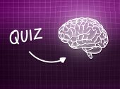 pic of quiz  - Quiz brain background knowledge science blackboard pink light - JPG