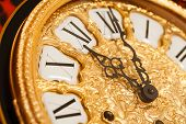 picture of tick tock  - gold clock - JPG