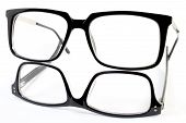 picture of nerd glasses  - two fashion glasses on white background - JPG