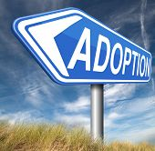stock photo of guardian  - child adoption becoming a legal guardian and getting guardianship and adopt young baby   - JPG