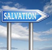 stock photo of salvation  - salvation by trust prayer and belief in god and jesus - JPG