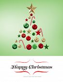 picture of candy cane border  - border against christmas tree shape of baubles - JPG