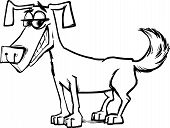 picture of sketch book  - Black and White Cartoon Sketch Illustration of Funny Dog Pet Character for Coloring Book - JPG