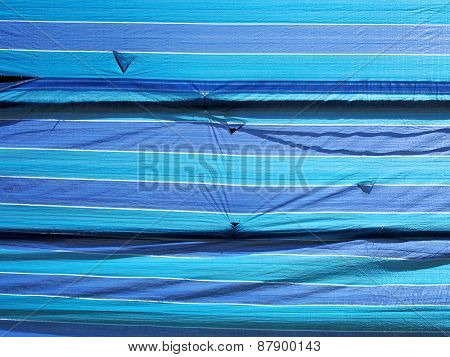 Blue Tarpaulin Fabric Sheet Background Texture