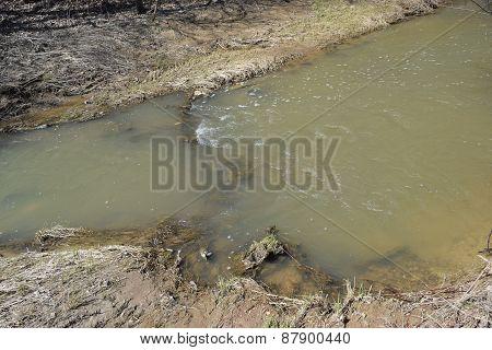 a ripple in a small stream