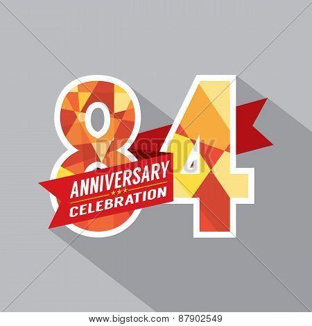 84Th Years Anniversary Celebration Design.