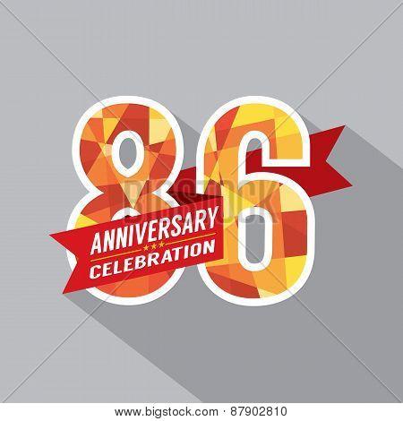 86Th Years Anniversary Celebration Design.