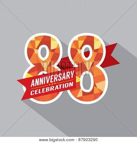 88Th Years Anniversary Celebration Design.
