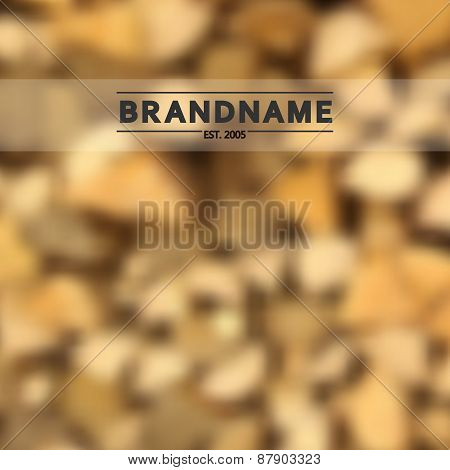 Blurred background vector of stacked fire wood