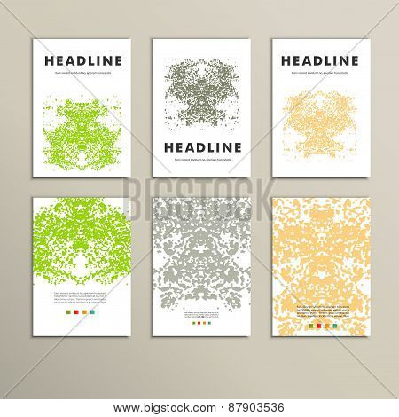 Set complex creative color pattern. Vector eps10