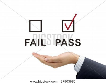 Pass Chosen By Businessman's Hand