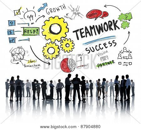Teamwork Team Together Collaboration Business People Communication Concept