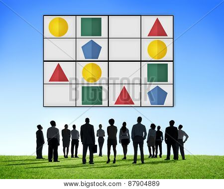 Sudoku Puzzle Problem Solving Leisure Games Concept