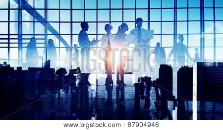 Business People Communication Meeting Discussion Office Concept