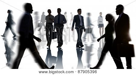 Business Corporate Commuter Travel White Collar Worker Concept