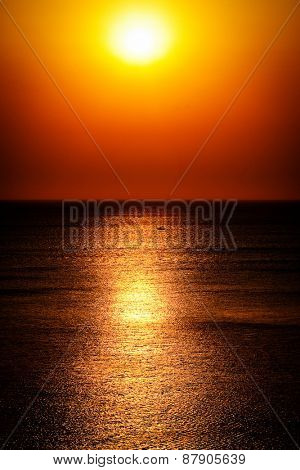 Abstract sunrise on the sea