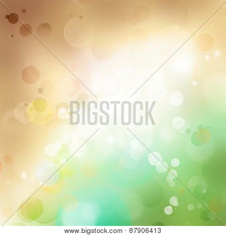 Abstract brown and green background. Copy space