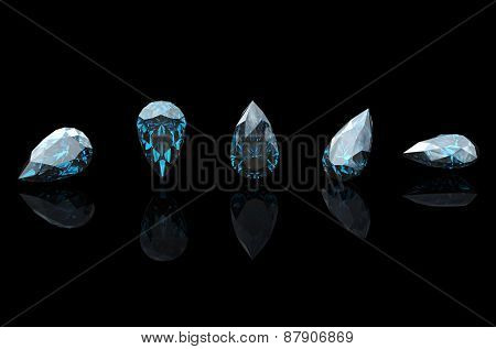 Jewelry Background with  gemstones. Diamond