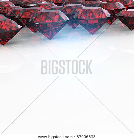 Jewelry Background with  gemstones. Garnet