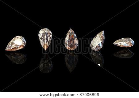 Jewelry Background with  gemstones. Cognac Diamond