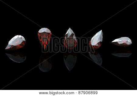 Jewelry Background with  gemstones. Garnet
