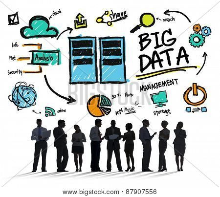 Business People Big Data Discussion Communication Concept
