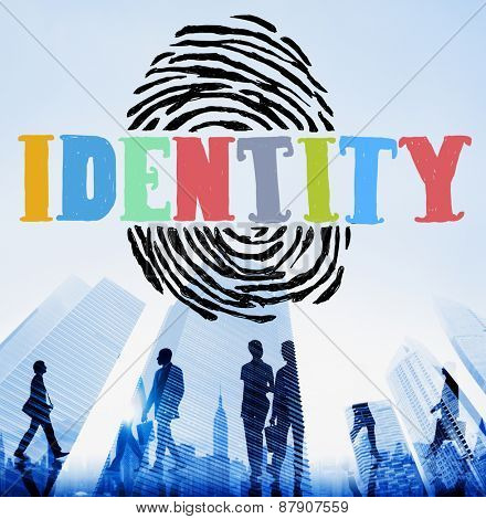 Finger print Identity Branding Protection Safety Concept