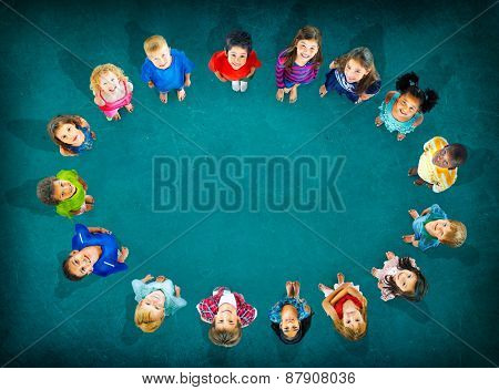 Children Kids Cheerful Childhood Diversity Concept