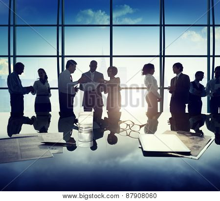 Business People Discussion Ideas Planning Teamwork Concept