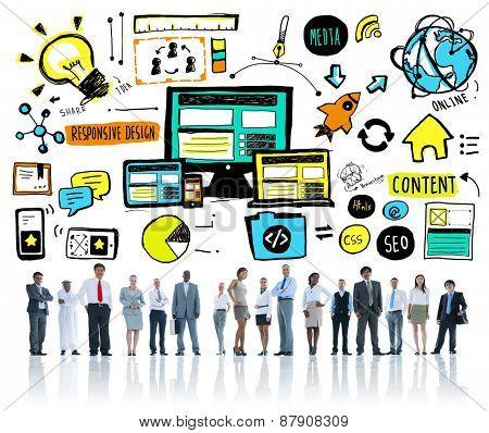 Diversity Business People Responsive Design Idea Team Concept