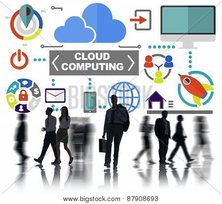 Business People Commuter Global Communications Cloud Computing Concept