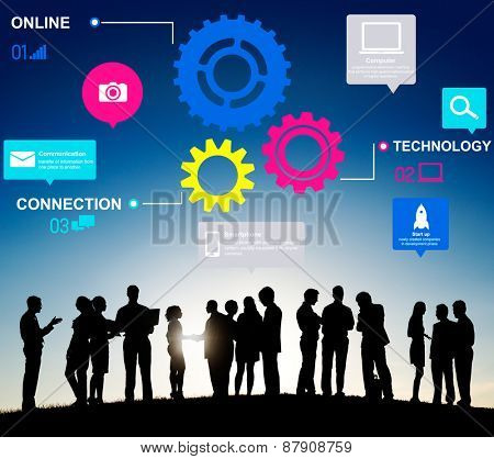 Team Functionality Industry Teamwork Connection Technology Concept