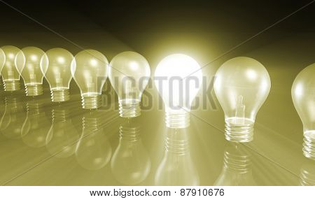 Business Concept for Success as Growth Chart Bulb