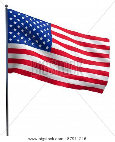Usa American Flag Waving