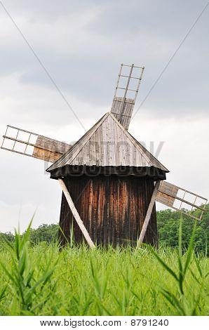 Windmill in Astra Museum Romania