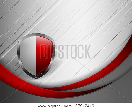 abstract vector template with shield