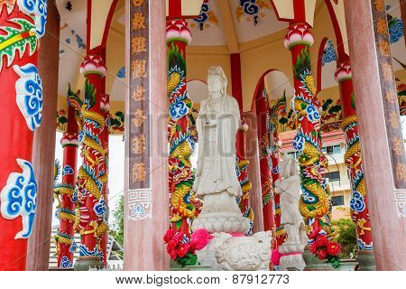 Guanyin in chinese temple at Koh Loy