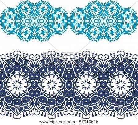 Set Linear Floral Ornament